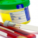 urine sample container and test tubes