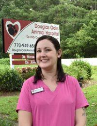 female veterinary staff member